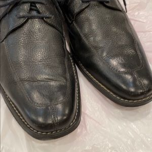 TASSO ELBA Footwear Black Leather Mens Dress Shoes